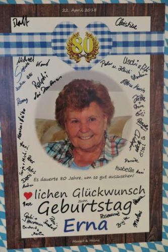 80. Geburtstag Erna Tischler